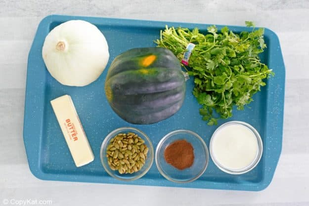 acorn squash soup ingredients.