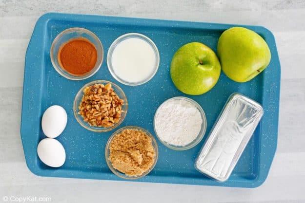 apple bread ingredients.