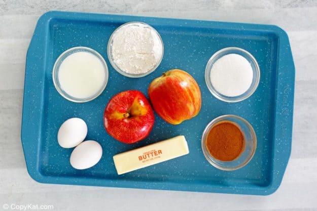 apple coffee cake ingredients.