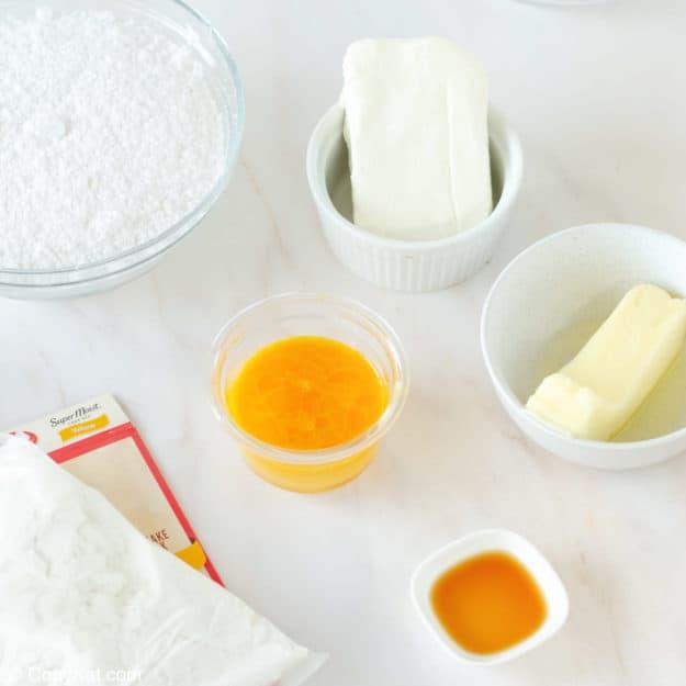 gooey butter cake ingredients.