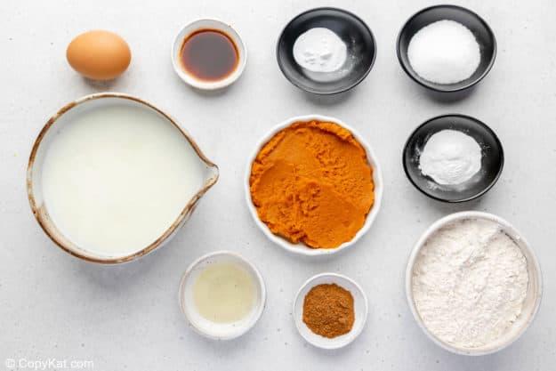 IHOP pumpkin pancakes ingredients.