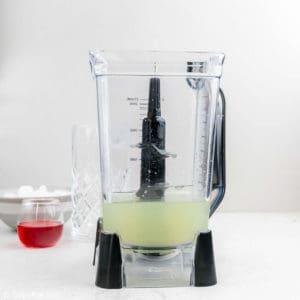 lemonade in a blender.