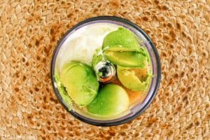 Chick Fil A avocado lime ranch dressing ingredients in a blender.