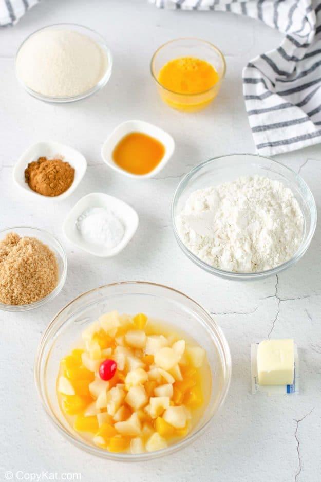 fruit cocktail cake ingredients.