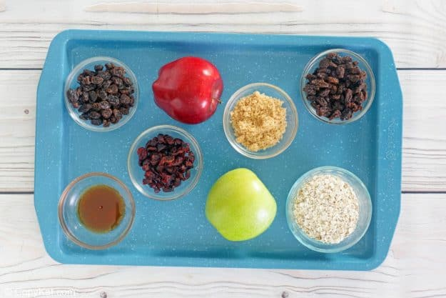 McDonald's fruit and maple oatmeal ingredients