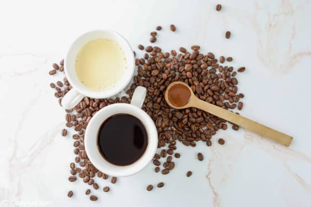 Starbucks caramel frappuccino ingredients.
