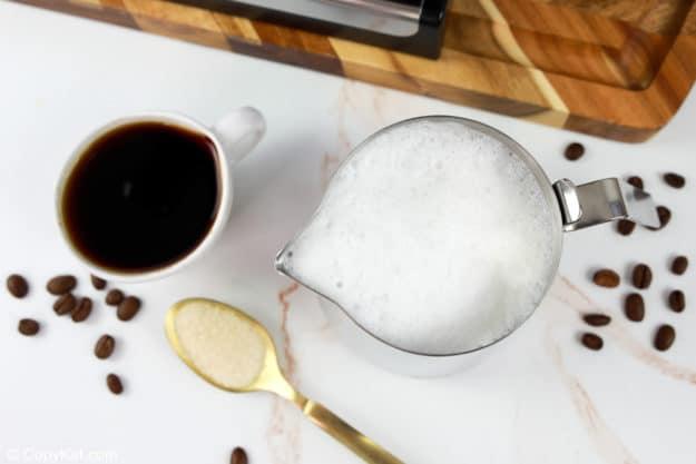 Starbucks flat white coffee ingredients.
